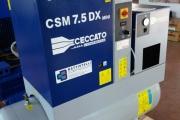 COMPRESSORE ROTATIVO A VITE CECCATO MOD. CSM 7.5 CON ESSICCATORE SU SERB DA LITRI 270