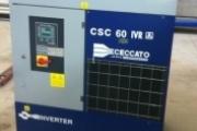 COMPRESSORE ROTATIVO A VITE CECCATO MODELLO CSC 60 /10 IVR  CON INVERTER PER RISPARMIO ENERGETICO